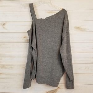 Free People gray one cold shoulder top